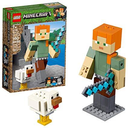 Konstruktor Lego Minecraft Alex BigFig With Chicken 21149