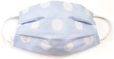 MamoTato Child Face Mask With Filter Pocket Blue Dots