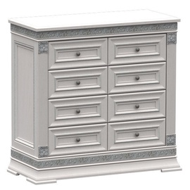 Zov K1-100 Chest Of Drawers Bianco Silver