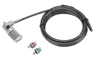 Targus Defcon 3-in-1 Resettable Combination Cable Lock