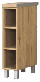 Нижний кухонный шкаф Bodzio Monia Open 20 Brown, 200x500x860 мм