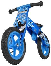 Milly Mally FLIP Wooden Balance Bike NYC Police Blue 1513