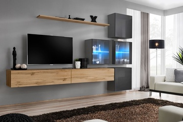 ASM Switch XIX Wall Unit Wotan Oak/Graphite