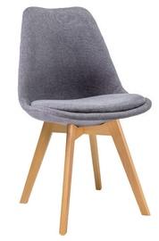 Стул для столовой Signal Meble Dior Velvet Buk Gray, 1 шт.