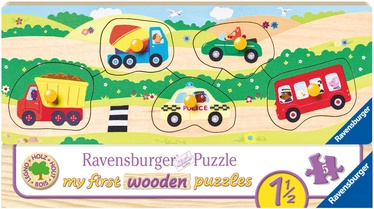 Pusle Ravensburger My First Wooden Vehicles 032365, 5 tk