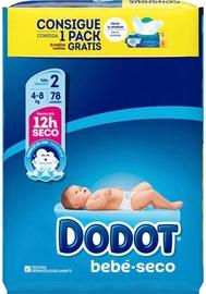Mähkmed Dodot Baby Dry, 2, 78 tk