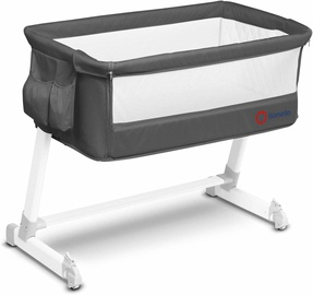 Lionelo Travel Bed Theo Dark Grey