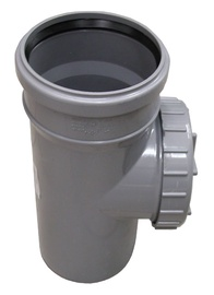 Puhastustükk Wavin 110 mm, PVC, hall
