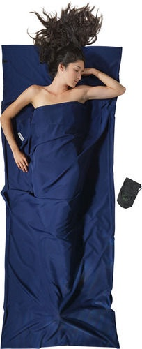 Magamiskott Cocoon Mummy Liner Microfiber Blue