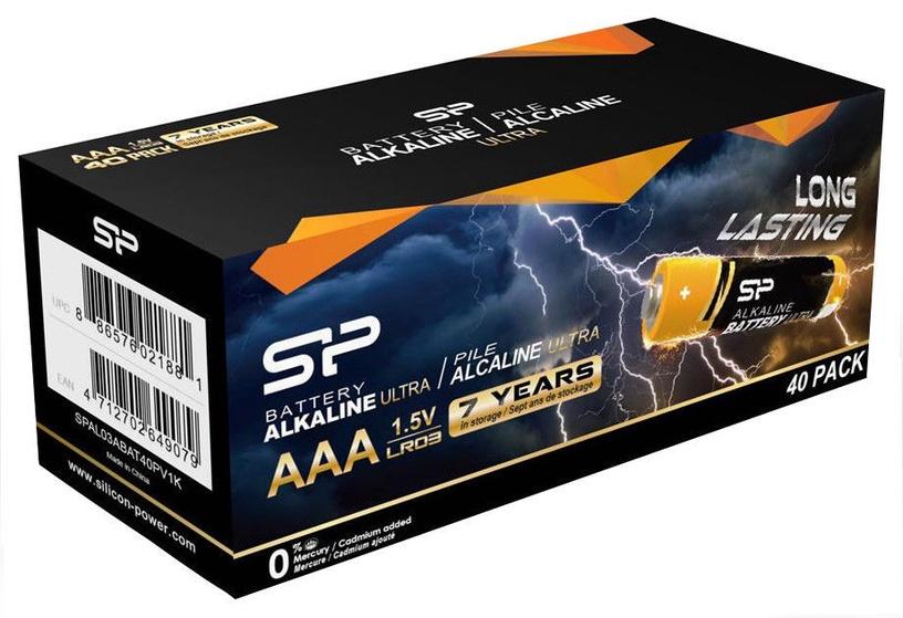 Silicon Power Alkaline Batteries Ultra AAA 40pcs