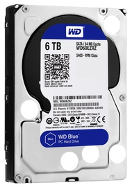Western Digital Blue HDD 6TB 5400RPM SATA3 64MB WD60EZRZ
