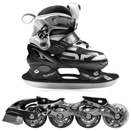 Spokey Quattro 4in1 Rollerskates Grey 30-33