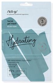 KILIG HYDRATING intensiivselt niisutav näogeel-mask KILIG , 3 x 7 g