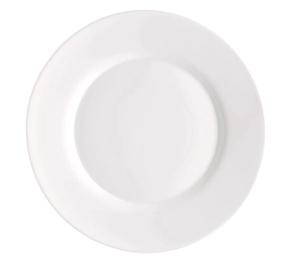 Desserttaldrik, 20 cm, valge
