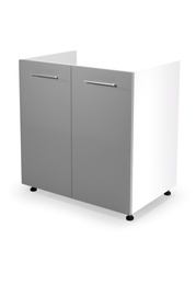 Halmar Kitchen Bottom Cabinet Under The Sink Vento DK-80/82 Light Grey