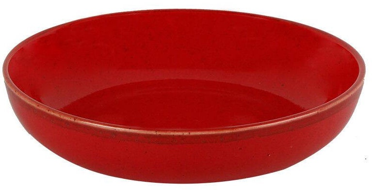 Porland Seasons Shallow Bowl D17cm Red