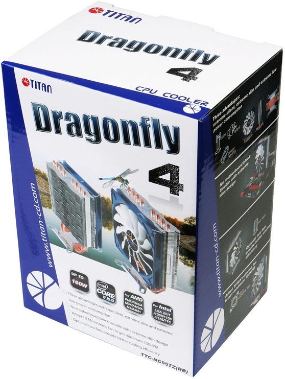 Titan Universal CPU Air Cooler DragonFly 4 TTC-NC95TZ(RG)