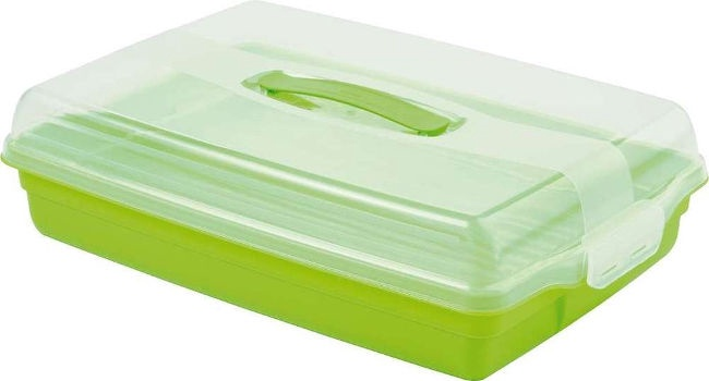Curver Cake Transporting Box Rectangular 45x29,5x11,1cm Green
