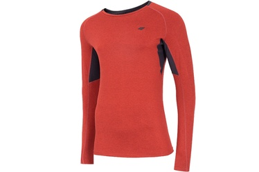4F Men's Functional Long Sleeve Top Red XL NOSH4-TSMLF002-62M