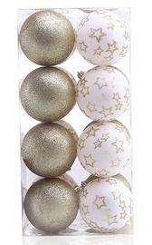 Jõulupuu ehe DecoKing Luna White/Gold, 16 tk
