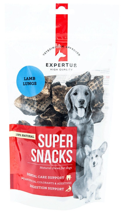Expertus Super Snacks Lamb Lungs Pieces 100g