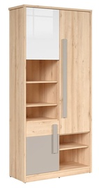 Black Red White Namek Bookshelf White/Grey/Beech