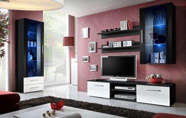 ASM Galino F Living Room Set Black/White Gloss/Black Gloss