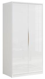 Гардероб Black Red White Pori White, 100x60x200.5 см