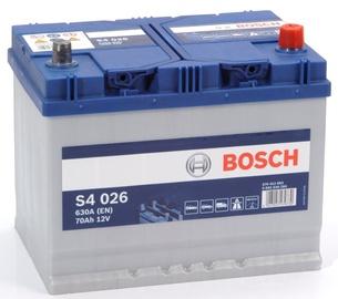 Аккумулятор Bosch S4 026, 12 В, 70 Ач, 630 а