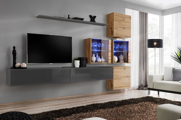 ASM Switch XIX Wall Unit Graphite/Wotan Oak