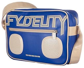 Fydelity Namesake G-Force Shoulder Bag with Speakers Blue