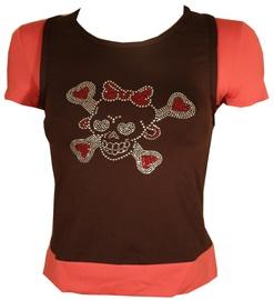 Bars Womens T-Shirt Brown/Pink 101 L