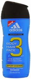 Гель для душа Adidas 3in1 Sport Energy, 250 мл