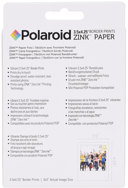 Polaroid 3x3 ZINK Photo Paper 40 Sheets