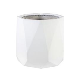 Home4you Sandstone Flowerpot D55x49cm White