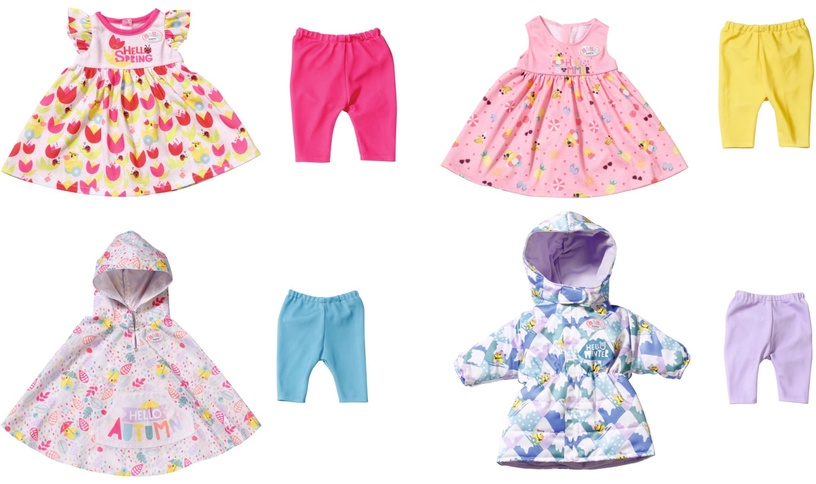Zapf Creation Baby Born Deluxe 4 Seasonal Outfit Set 43cm 829424