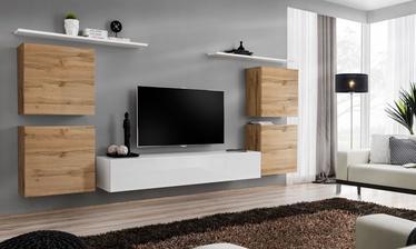 ASM Switch IV Wall Unit White/Wotan Oak