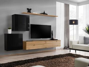 ASM Switch V Wall Unit Black/Wotan Oak