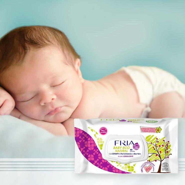 Fria Baby Eco Natural Wipes 80pcs