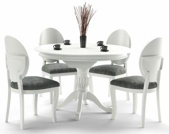 Обеденный стол Halmar William, белый, 900x900x750мм