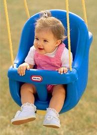 Little Tikes High Back Toddler Swing Blue