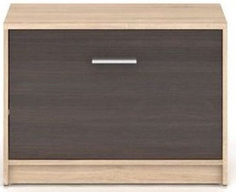 Шкаф для обуви Black Red White Nepo Plus Sonoma Oak/Wenge, 700x340x500 мм