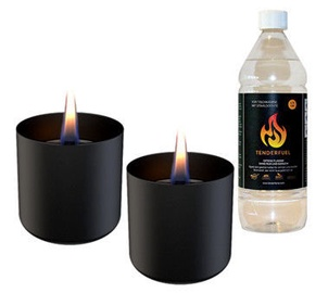 Tenderflame Lilly Table Burner Set 8cm Black