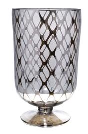 Home4you Luxo Vase D16x27cm Golden Rhombs