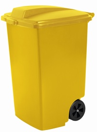 Curver Waste Bin 100L Yellow