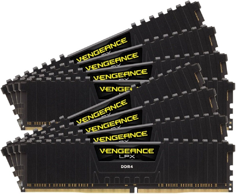 Corsair Vengeance LPX Black 64GB 3800MHz CL19 DDR4 KIT OF 8 CMK64GX4M8X3800C19