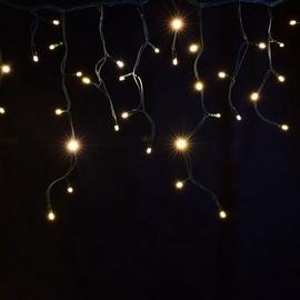 Jõulutuled jääpurikad, 250 LED, soe valge, 5m