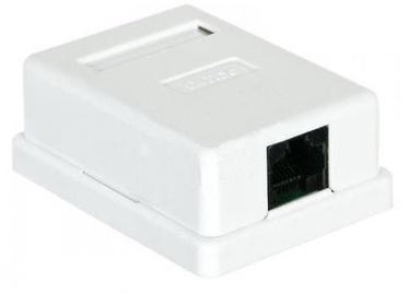 A-Lan Mount Box UTP 5e RJ45 1pcs White