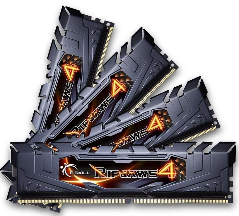 G.SKILL Ripjaws4 32GB 3000MHz DDR4 CL15 DIMM KIT OF 4 F4-3000C15Q-32GRK