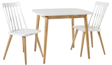 Home4you Dining Room Set Simple 2 White/Oak